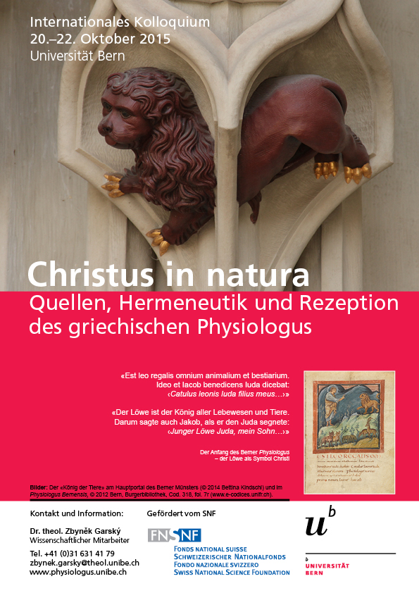 International Colloquium: The Physiologus in the Context of Ancient Literatur